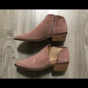 LUCKY BRAND BLUSH PINK LEATHER BOOTIES